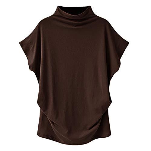 Club Womens Zip Hoodie (Fenverk Damen Kapuzenpullover Ladies Hoodie Leichtes Kurzarm T-Shirt Bequem Slim LäSsig Stilvoll Frauen Langarm Solid Sweatshirt Pullover Tops Bluse Shirt(Dunkelbraun,XL))
