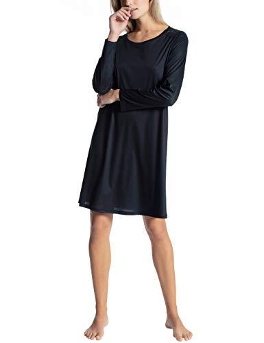 Calida Damen Cosy Bamboo Nachthemd, Blau (Midnight Blue 458), 40 (Herstellergröße: S)