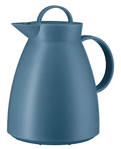alfi 0935.060.100 Isolierkanne Dan, Kunststoff gefrostet Vintage Indigo 1,0 l, 12 Stunden heiß, 24 Stunden kalt