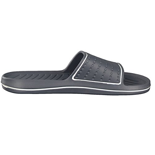 Sandales de bain Homme| Chaussures de piscine et plage pour homme| Couleurs: Bleu/Orange Noir/rouge Blanc/Gris| Pointures: 40 -45 de Brandsseller Gris/Blanc
