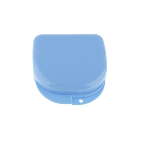 Zahnhaltestreben Mundschutz Prothese Aufbewahrungskoffer Behälterbox Skyblue