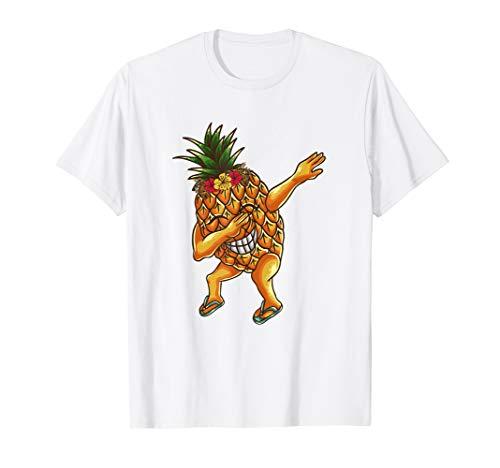 Dabbing Pineapple Shirt Women Girls Aloha Hawaiian Tropical T-Shirt - Womens Hawaiian-t-shirt