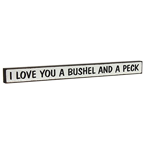 Holzschild I LOVE YOU A Bushel and a Peck – by My Wort.