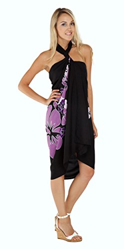 TowelsRus Spa Days Sarong, 1 World Damen Sarong Premium Hawaii in der Farbe Ihrer Wahl Violett - Violett