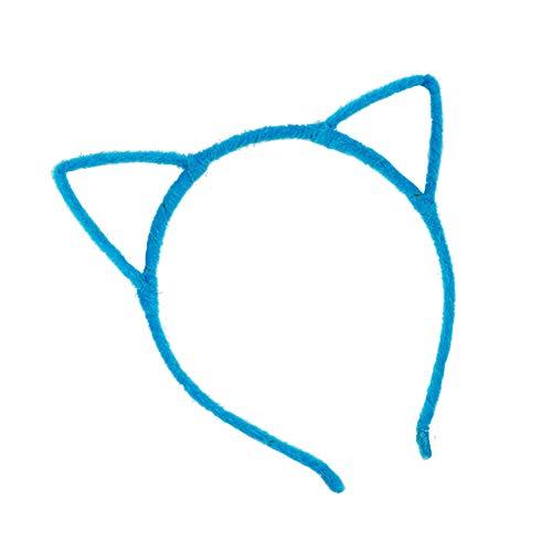 fablcrew Katze Ohr Haarband flauschig Stirnband Hoop für Mädchen Kinder Geburtstag Cosplay Kostüm Haar Band Blau