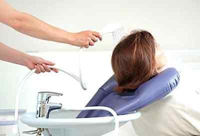 Aufblasbares Kissen für Haarwaschbecken von Planethair® Store, inklusive Hahn