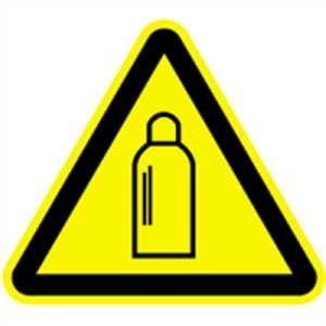 Schild Warnung vor Gasflaschen 30cm sl Alu gemäß ASR A 1.3/BGV A8/DIN 4844