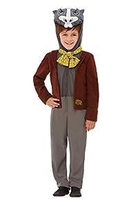 Smiffys 48782T2 - Disfraz de tejón de lujo con licencia oficial de Wind in The Willows, para niños, color marrón, para niños de 3 a 4 años