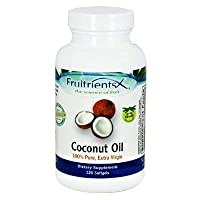 Fruitrients - Coconut Oil - 100% Pure Extra Virgin Coconut Oil - 120 Softgels by Fruitrients