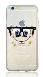 Ronney 's Cartoon Spongebob transparent TPU Soft Case für Apple iPhone 5/5S 5C 6/6S & 6+ 6+ S * * Gratis Displayschutzfolie Scree * *, plastik, SPONGEBOB, Apple iPhone 5/5S SB4