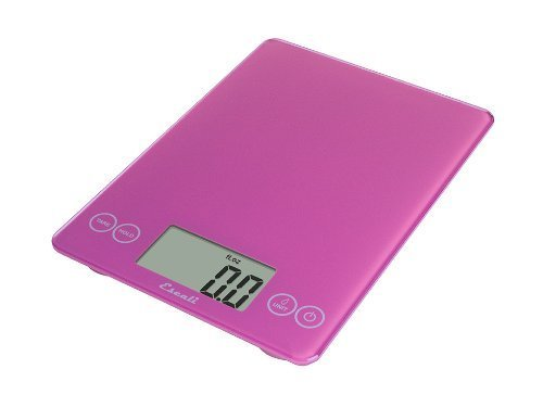 Escali 157PP Arti Glas, Digitale Küchenwaage, Belastbar bis 6,8 Kg, 7 Kg, Poppin'Escali Pink -