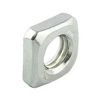 Eisenwaren2000   M4 Vierkantmuttern (20 Stück) - niedrige Form Vierkant-Mutter DIN 562 - Edelstahl A2 V2A - rostfrei