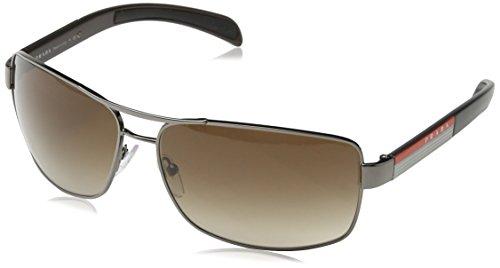 79fbcf1c6de8 Prada Linea Rossa Herren Sonnenbrille PS54IS Silber Gunmental 5AV6S1)
