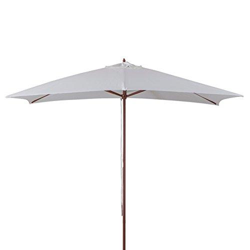 Verdelook ombrellone in legno a carrucola, 3x2, ecrù, per arredo esterni giardino