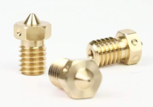 E3D V6 Brass Nozzle Triple Pack (1.75mm, 0.4mm)