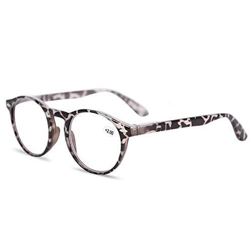 KOOSUFA Lesebrille Herren Damen Retro Runde Nerdbrille Lesehilfen Sehhilfe Federscharniere Vollrandbrille Anti Müdigkeit Brille mit Stärke 1.0 1.5 2.0 2.5 3.0 3.5 4.0 (Graue Hawksbill, 1.5)