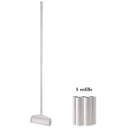 QX Rodillo de Pelusa [1 Mango Largo retráctil + 9 Rollos], Lint...