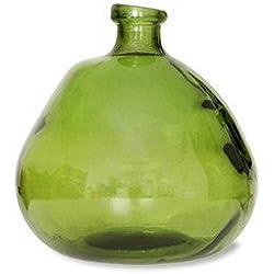 Garden Trading pozos Burbujas jarrón en Verde–Cristal Reciclado