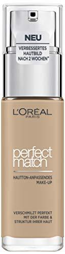 L'Oréal Paris Perfect Match Foundation, flüssiges Make-Up, deckend und feuchtigkeitsspendend für einen natürlichen Teint - 2N vanilla (30 ml)