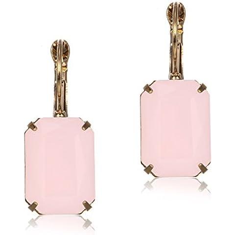 eManco Cristallo Pendente Goccia Ciondola Orecchini Ciondolo per Donne Gioielli (20 (Rosa Piccolo Stock)