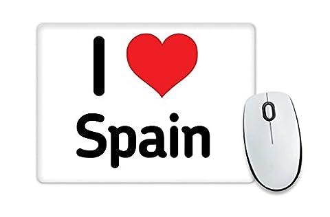 Espagne-Tapis de souris I Love coeur cadeau idée Noël c drôle