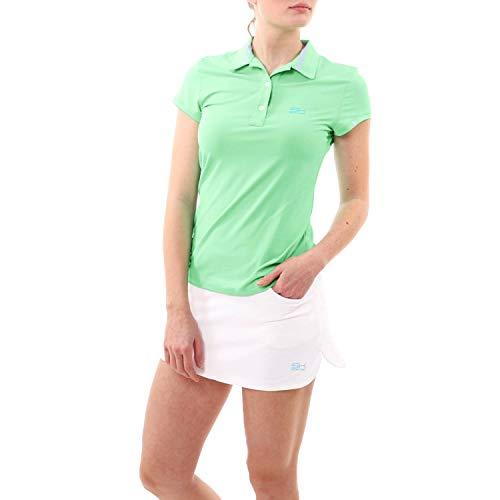Sportkind Mädchen & Damen Tennis, Golf, Sport Poloshirt, lindgrün, Gr. M - Mädchen Lindgrün
