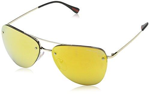 Prada Linea Rossa Damen PS53RS Sonnenbrille, Pale Gold ZVN5N0, One size (Herstellergröße: 57)