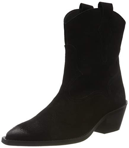 Buffalo Damen Fox Cowboystiefel, Schwarz (Black 001), 39 EU