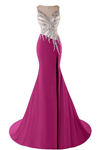 Sunvary Mermaid Sweetheart Chiffon con perline e cristalli, con scritta: Evening Dresses Homecoming Gowns Rosey