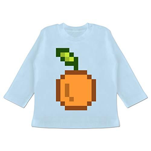 Karneval und Fasching Baby - Pixel Orange - Karneval Kostüm - 12-18 Monate - Babyblau - BZ11 - Baby T-Shirt ()