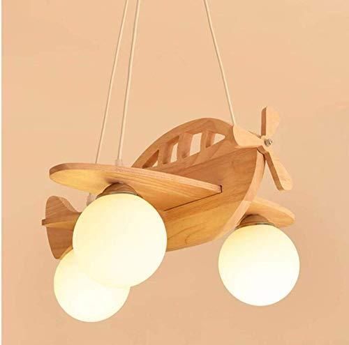 Fcxbq lampadario, lampadario a soffitto lampadario per camera per bambini, nordic boy in legno massello sala ristorante lampada creativa cartone animato lampadario moderno semplice camera da lett