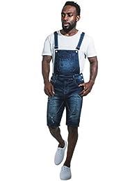f74a4cf424 Urban Rags Peto Corto Hombre pantalones cortos de mezclilla dungaree BAILEY