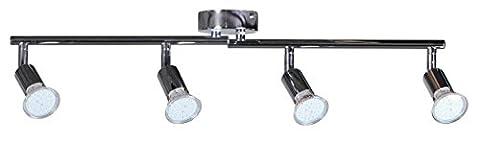 Wohnling 4-er LED-Strahler Deckenleuchte Spotsystem LED Gelenksystem Decken Lampe Spot