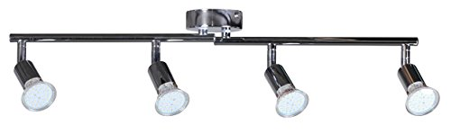 Wohnling 4-er LED-Strahler Deckenleuchte Spotsystem LED Gelenksystem Decken Lampe Spot WL3.013
