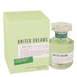 Benetton United Dreams Live Free Eau De Toilette Spray By Benetton 2. 7 oz Eau De Toilette Spray