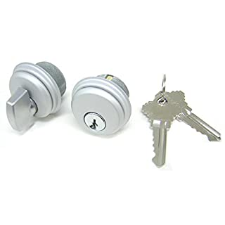 Storefront Door Mortise Lock Cylinder & Thumbturn, Adams Rite Cam, in Aluminum