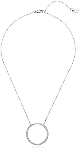 Michael Kors Open Circle Pave Pendant Necklace