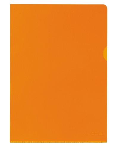 ELBA Sichthüllen Premium 25er Pack für DIN A4 aus PVC orange transparent oben und seitlich offen ideal fürs Büro und die mobile Organisation (Farbige Kunststoff-taschen)