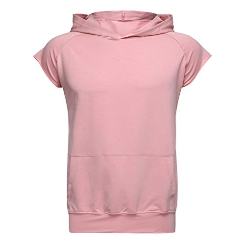 Preisvergleich Produktbild Luckycat Herren Sommer T-Shirt V-Ausschnitt Slim Fit Baumwolle-Anteil Hoodie-Sweatshirt Kurzarm lang Herren Weste Hoodie Sweatshirt Longsleeve Rundhals Ausschnitt Oversize Kurzarm Top Basic Shirt