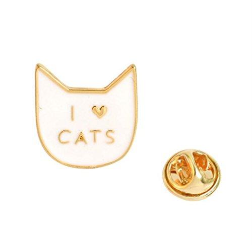 Redyiger Kleines und exquisites Abzeichen Kreative süße Katze Brosche Button Abzeichen Kostüm Zubehör (bunt)
