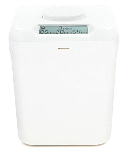 Kitchen Safe: Verschließbarer Behälter mit Zeitschaltuhr ((White Lid + White Base))