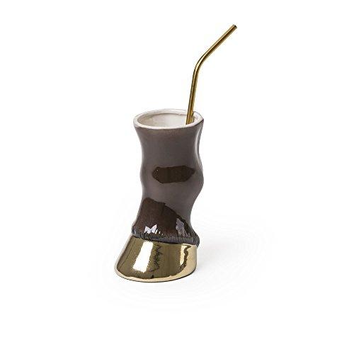 SELETTI 'Vase/gobelet en Dolomite Diesel-Party Animal cm.9 x 12,5 h.13-Bull
