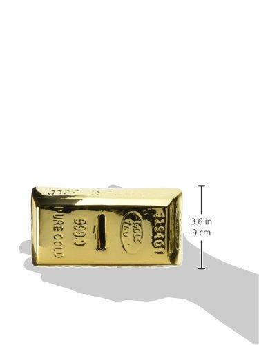 *Générique Tirelire en forme de lingot d'or – Cagnotte avec serrure et clé Cadeau insolite Offre de prix