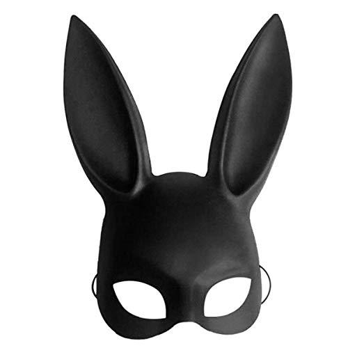 SODIAL Nuovo Masquerade coniglio di coniglietto maschera adulti sexy del costume di Halloween Accessori Prop nero