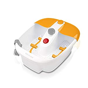 Medisana FS 883 Fußsprudelbad mit Fußreflexzonenmassage, elektrisches Fußbad, Wärmefunktion, Vibrationsmassage, Pediküre-Aufsätzen, Fußbad mit Massage und Heizung