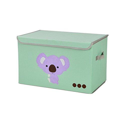 KWLET klappbar, mit Deckel, Klappbar, Würfel, Behälter zur Aufbewahrung für Kinder Spielzeug, Koala, - Für Mädchen Baby-schuhe Koala