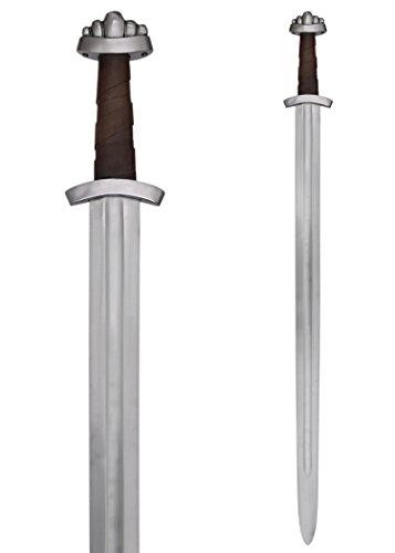 Battle-Merchant Wikingerschwert mit Scheide, 10. Jh Echt Metall Wikinger Schwert für Erwachsene -
