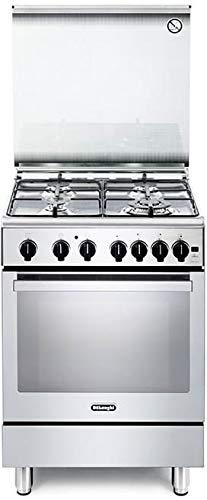 Cucina a Gas con Forno a Gas Ventilato con Grill 60x60 cm Inox