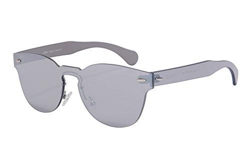 Clasico Marco Redondo Espejo Gafas de Sol del Estilo de la Fiesta de una Pieza de las Gafas de Sol-SH71002(c4)