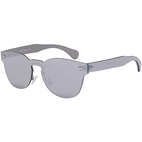 Classico Telaio Specchio Rotondo Occhiali da Sole Stile del Partito di un Pezzo da Sole-SH71002